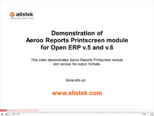 Aeroo Reports Prinstscreen Demo
